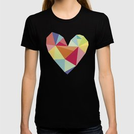 Geometric heart print T-shirt