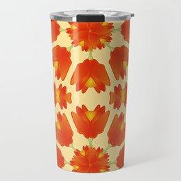 Colorful Floral Print Vector Style Travel Mug