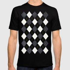 Argyle Black Mens Fitted Tee LARGE
