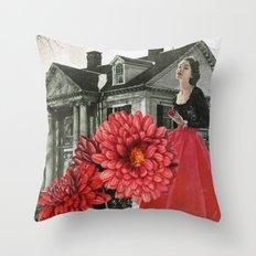 Red Chrysanthemum Throw Pillow