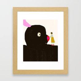 Friends will be friends Framed Art Print