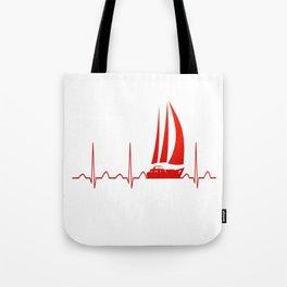 Sailing Heartbeat Tote Bag