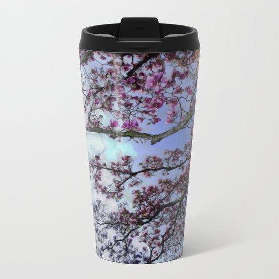 Cherry Blossoms II Metal Travel Mug