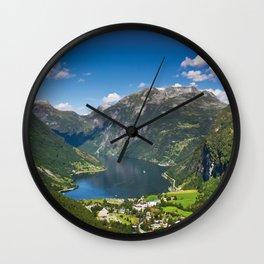 Geiranger Fjord Wall Clock