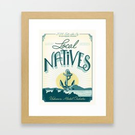 Local Natives Gig Poster Framed Art Print