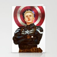 steve rogers Stationery Cards featuring Steve Rogers by chazstity