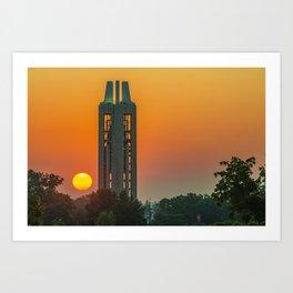 KU Campanile Bell Tower Sunrise - Lawrence Kansas Art Print