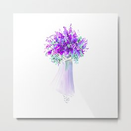 Woman with Bouquet no 3 Metal Print