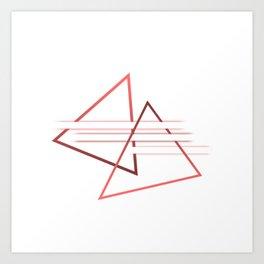 Triangle lover - minimalist Art Print