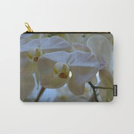 White Peabody Orchid III Carry-All Pouch