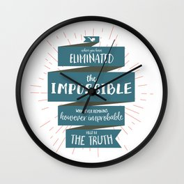The Truth (blue) Wall Clock
