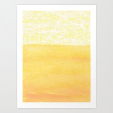 Abstract yellow Art Print