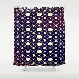 GS Geometric Abstrac 05A Dots CW Shower Curtain