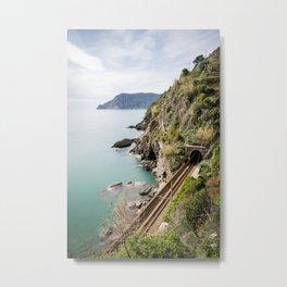 Railroad, Vernazza, Italy Metal Print
