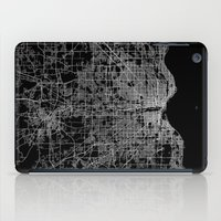 milwaukee iPad Cases featuring milwaukee map by Line Line Lines