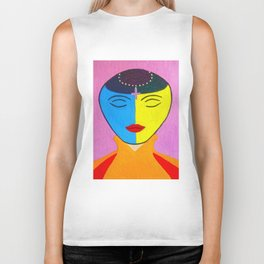 Spirit Woman By Annie Zeno Biker Tank