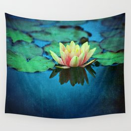 waterlily textures Wall Tapestry