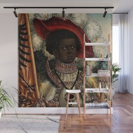 African Masterpiece 'Maurice, Commander of Roman Legion 280 A.D.' Portrait Painting Wall Mural