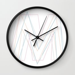 Intertwined Strength and Elegance of the Letter M Wall Clock