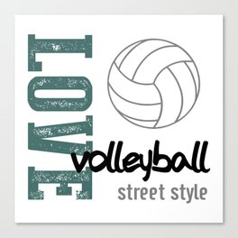 Love Volleyball Street Style Canvas Print