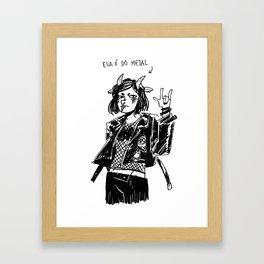 She's metal Framed Art Print