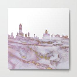 Albany City Skyline Metal Print