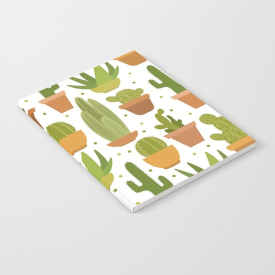 Cactuses white pattern Notebook