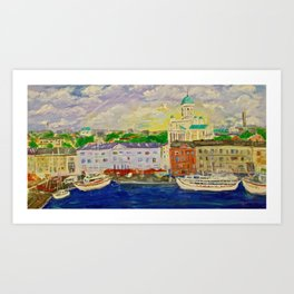 Impression Helsinki Art Print