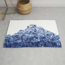 Mountain made of crushed ice, isolated on white background Rug