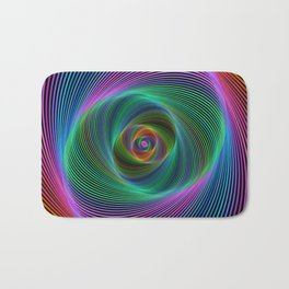 Psychedelic Spiral Stripes Bath Mat