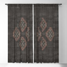 Kilim in Black and Pink Blackout Curtain