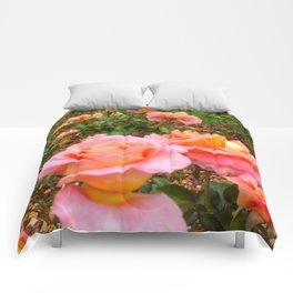Pink Rose Field Comforters