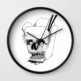 Monster Food: Takeout Wall Clock