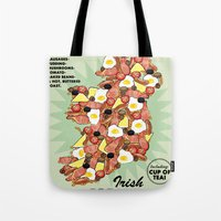 irish Tote Bags featuring Irish Breakfast by JupiterInLove