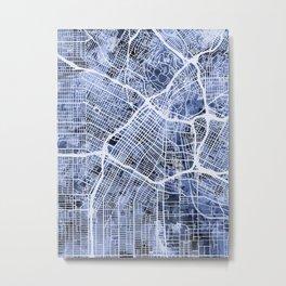 Los Angeles City Street Map Metal Print
