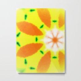 Just yellow Metal Print