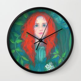 Child of the forest Wall Clock
