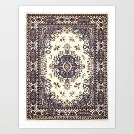 V8 Moroccan Epic Carpet Texture Design. Art Print