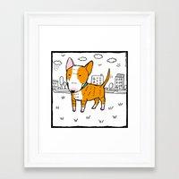 bull terrier Framed Art Prints featuring bull terrier by Ellizavetta