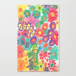 Summer Flower Blossom Garden Canvas Print