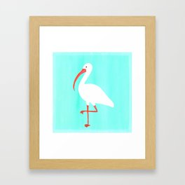 Tropical Ibis Framed Art Print
