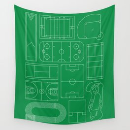 Sport Courts Pattern Art Wall Tapestry