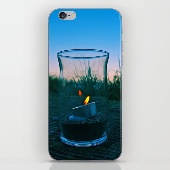 Seaside flame iPhone & iPod Skin