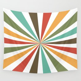Retro Stripes In Transparent Background, A Set Of Several Vintage Classic Colors, No 02 Wall Tapestry