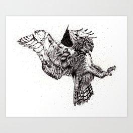 Eagle-Owl Art Print