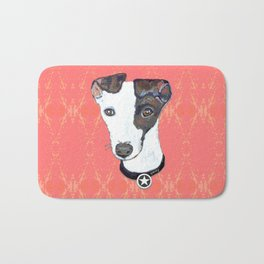 Greyhound Portrait Bath Mat
