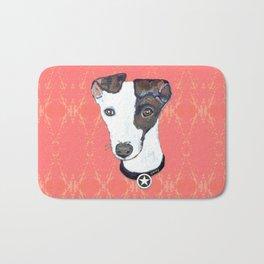 Greyhound Portrait Bath Mat