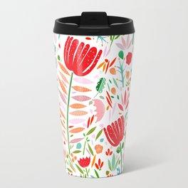 folk floral Travel Mug