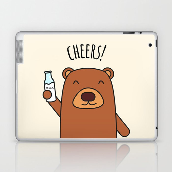 Cheers, Bear! Laptop & iPad Skin