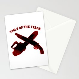 Tools of the Trade Doom Gaming Quake Evil Ash Dead shotgun chainsaw Stationery Cards